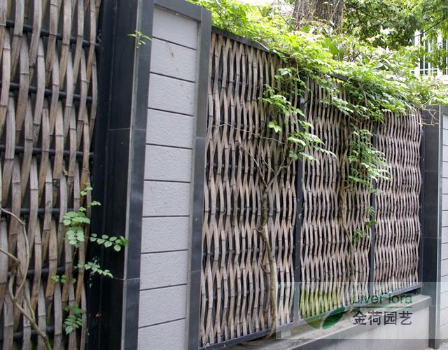 竹编篱笆 竹篱笆制作 手工竹篱 编竹栅栏 竹围墙